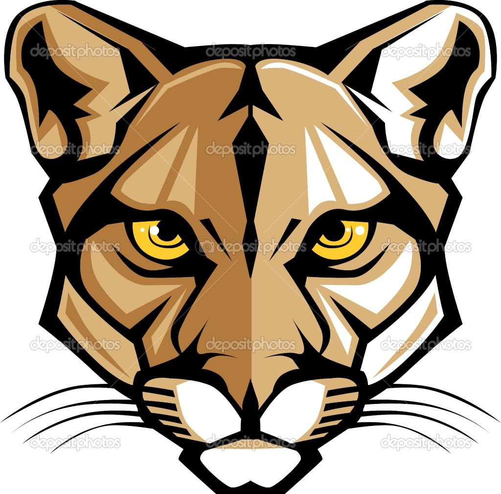 1024x1009 cougar head clip art cougar panther mascot head vector graphic
