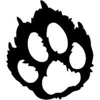200x200 Cougar Paw Track Wildlife Window Decals Stickers