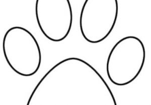 300x210 Drawing Of A Dog Paw Print Tiger Paw Prints Walking Drawing Cougar