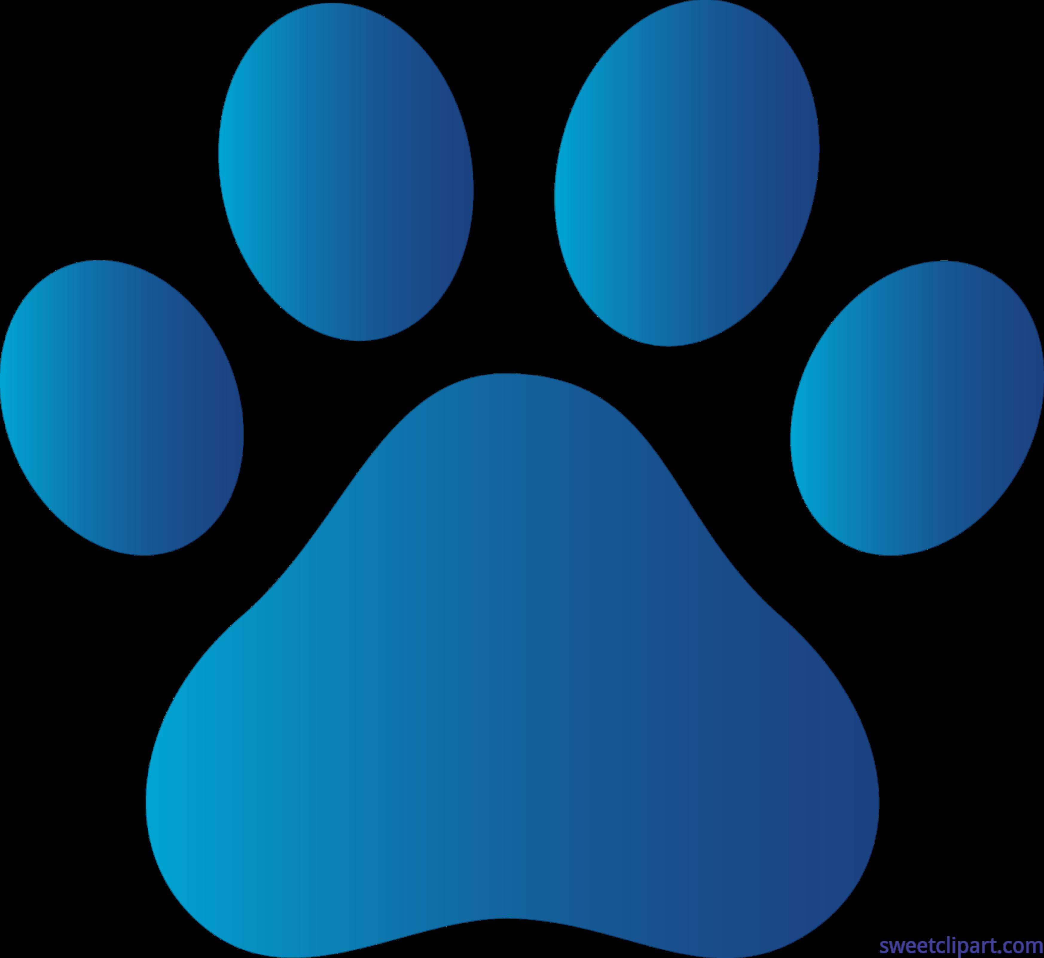 3492x3202 Blue Cat Paws Clipart Dog Clip Art