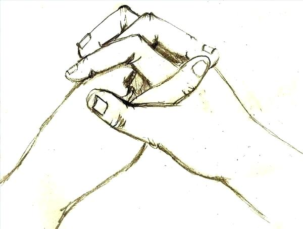 600x454 drawing of two hands holding two hands holding holding hands black