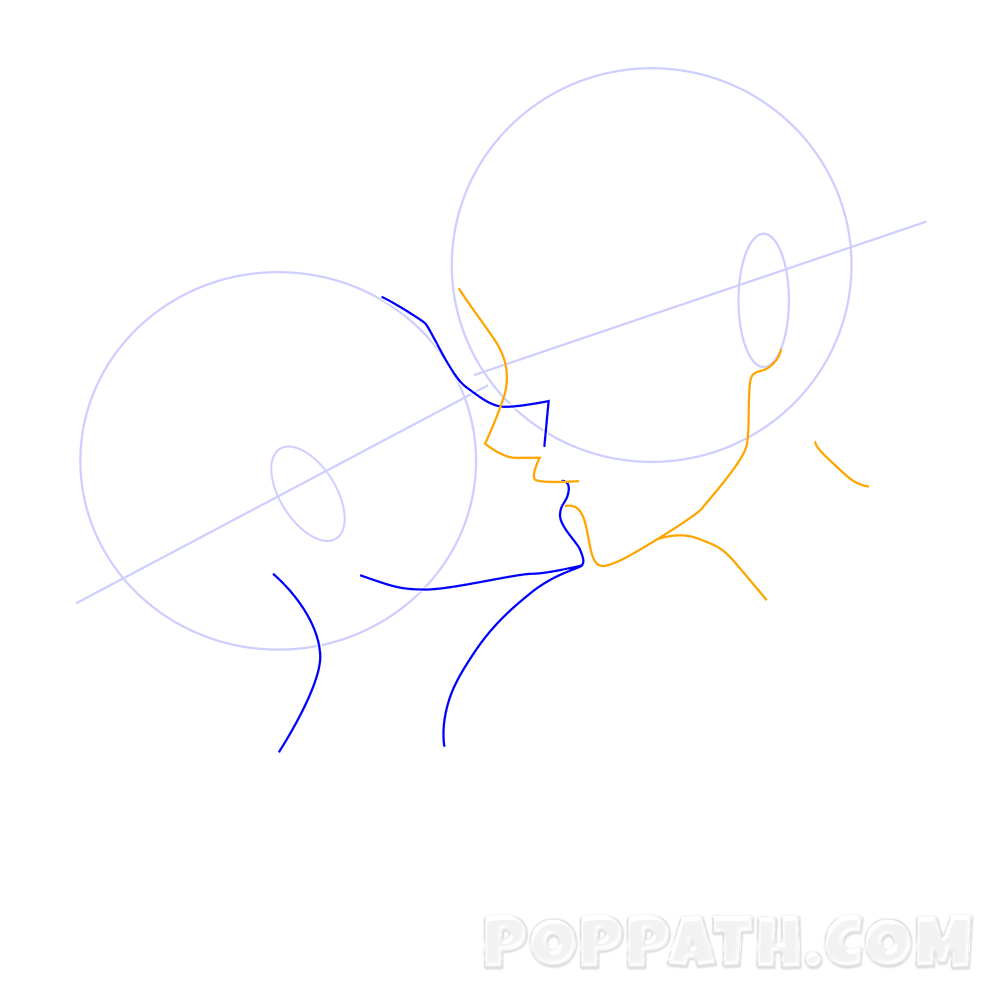 1000x1000 How To Draw A Kissing Couple Pop Path