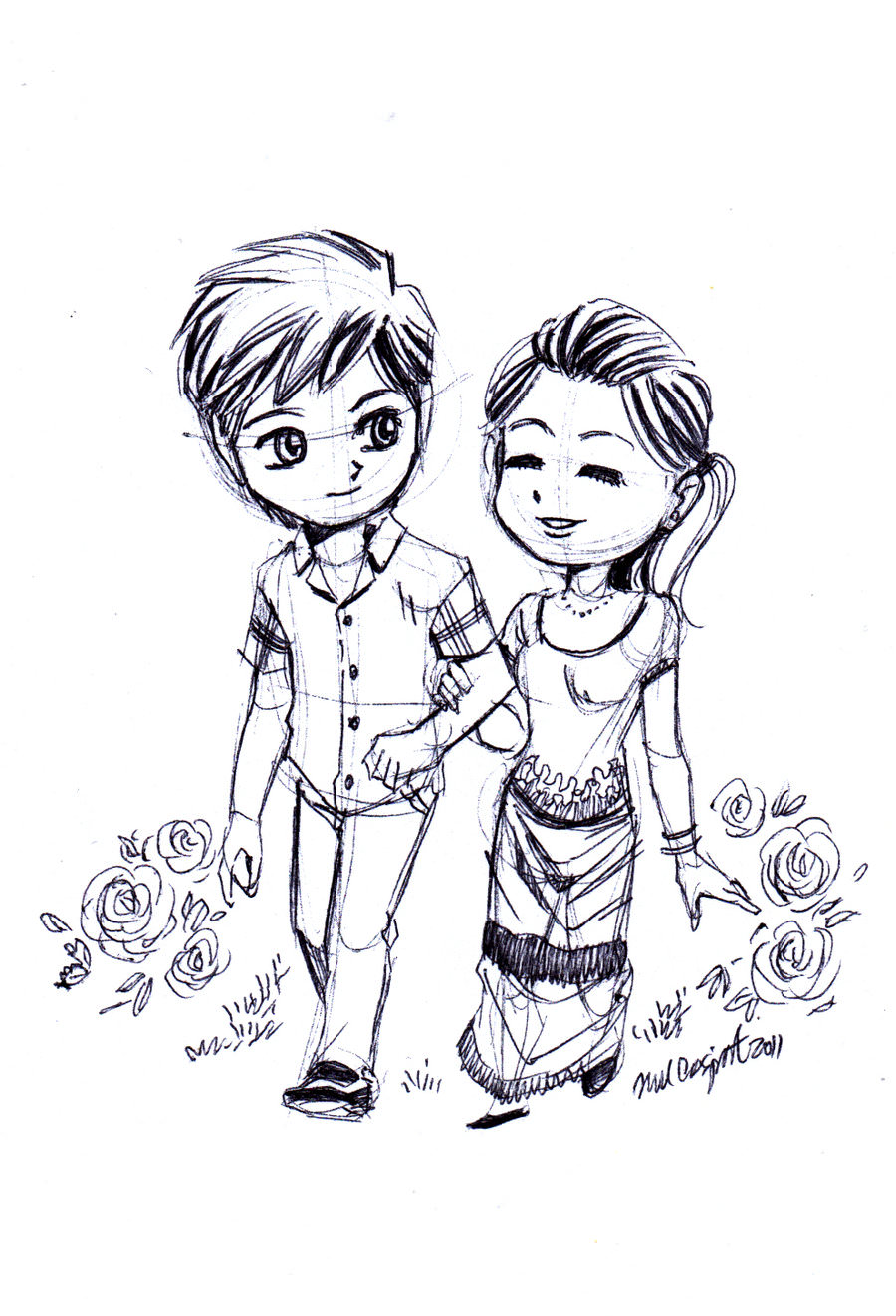 Couple Love Drawing Images