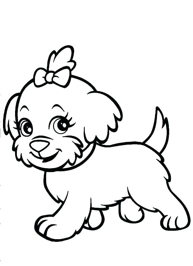 640x881 Doggie Coloring
