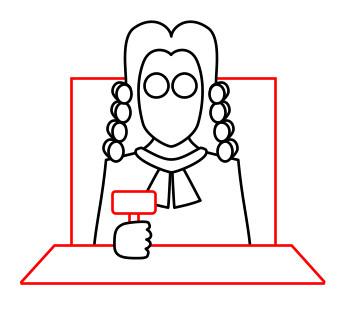 350x316 Drawing A Cartoon Judge
