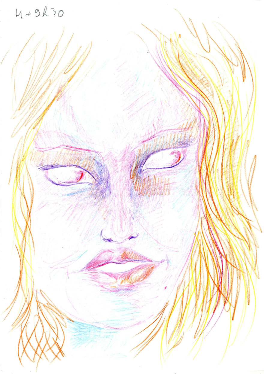 880x1245 artist used lsd and drew herself for hours to show how it