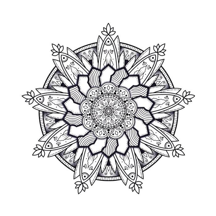 700x699 mandala handmade drawing, decoration, mandala art, zen art duvet