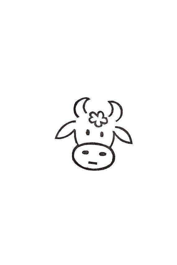 570x855 cow st bull st calf st rubber st birthday gift