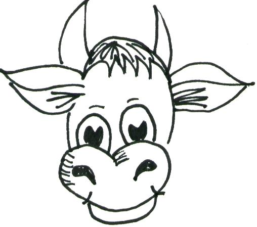 508x449 cartoon cow drawing the best cartoon cow ideas cow drawing learn