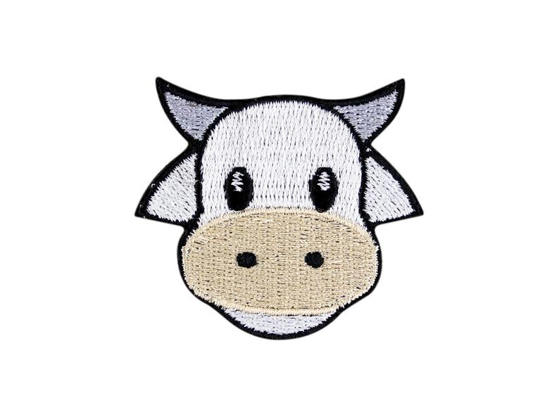 794x596 Cow Face Emoji Embroidered Iron On Patch Applique Free Etsy