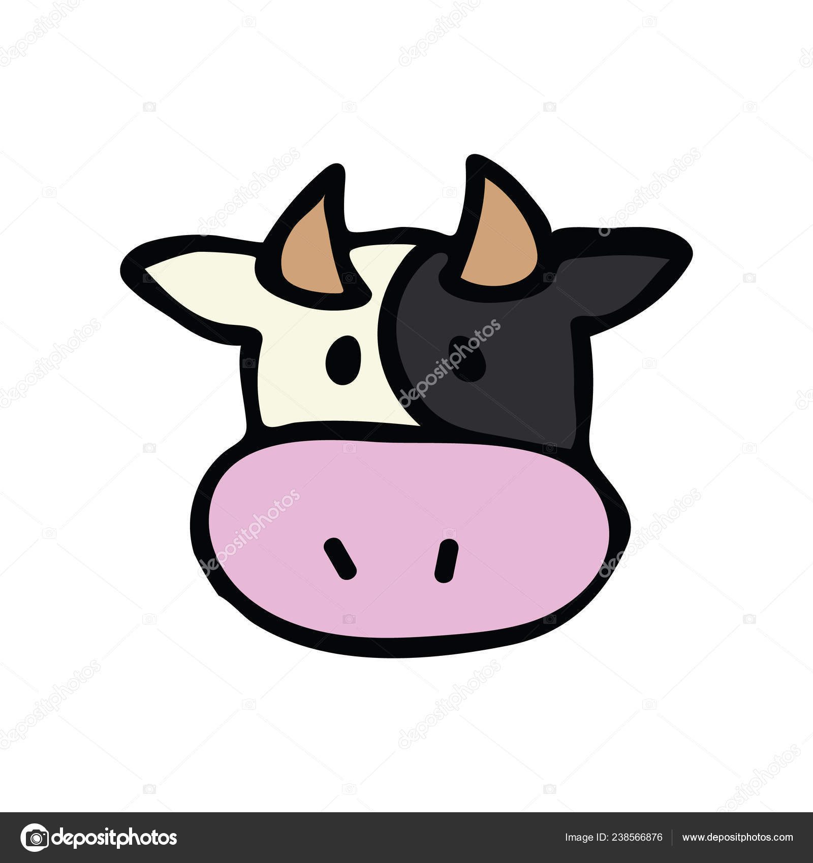 1600x1700 Cute Cow Head Cartoon Drawing Face Simple Ajedrezdeen Trenamiento