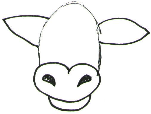 507x386 How To Draw Cartoon Cows Farm Animals Step
