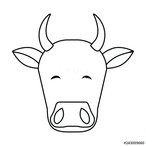 500x500 Cow Head Drawing Nip