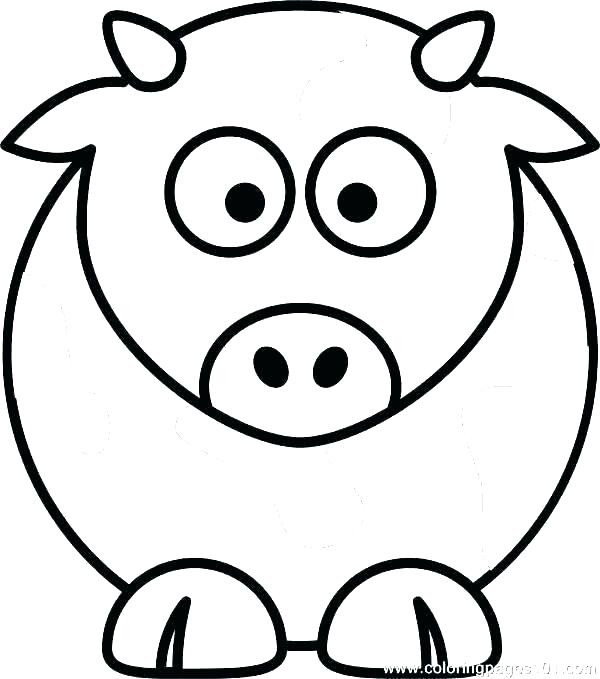 600x679 Coloring Pages Cow Cow Face Coloring Pages Cows