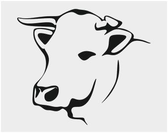 340x270 cow head clipart awesome cow head silhouette clip art download