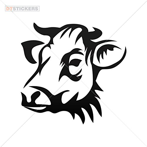 500x500 decoration vinyl sticker cow head decoration motorbike