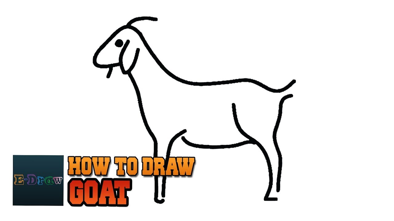 1280x720 How To Draw A Goat Goat Easy Draw Tutorial For Kids A Simple