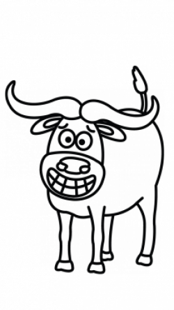250x444 Numbers Drawing Cow, Picture