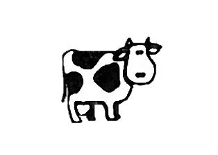 314x224 Simple Drawing Cow Kazels