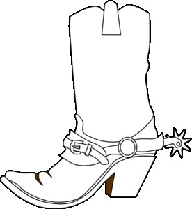 Cowboy Boot Line Drawing