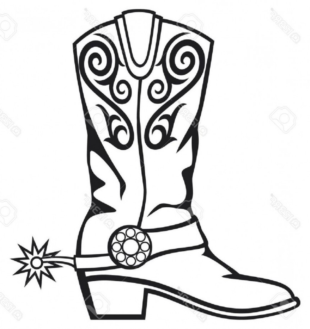 1041x1106 Cowboy Boots Coloring Pages Pictures Imagixs Stuning Boot Clip Art