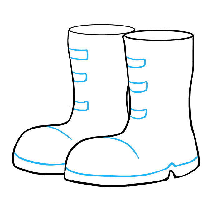 680x678 How To Draw Boots