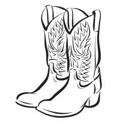 245x245 Line Art Graphic Image Cowboy Boots Reboot Cowboy Boots