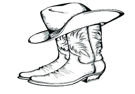 476x333 Cowboy Boot Coloring