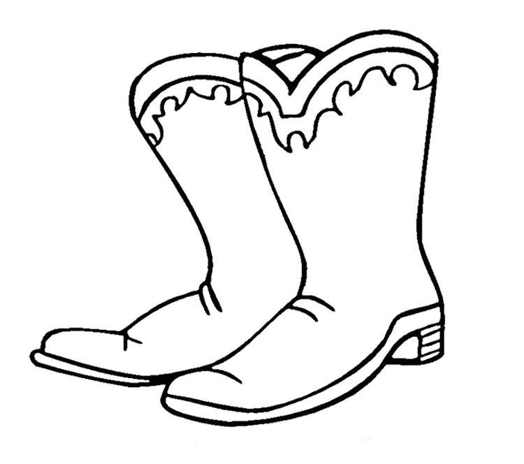 750x664 cowboy boot and hat coloring pages beautiful cowboy boots and hat