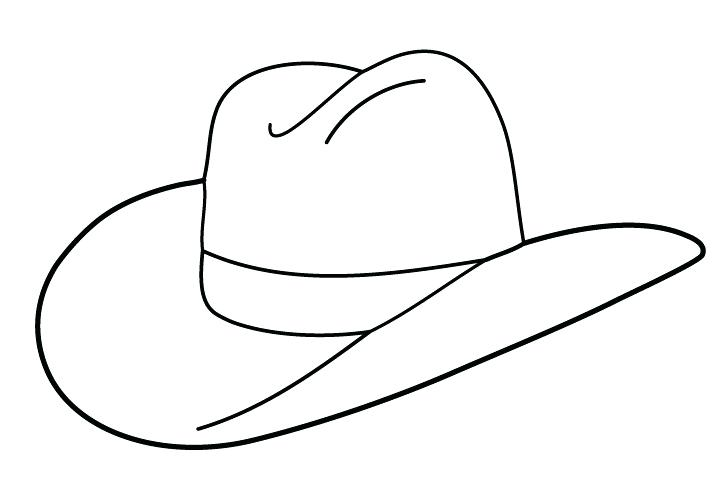 720x504 cowboy hat drawing cowboy hat drawings and clip art library cowboy