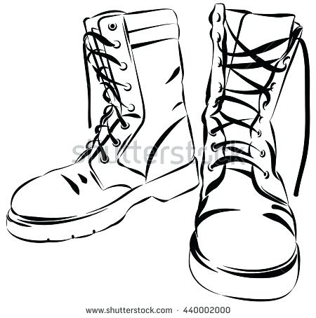 450x454 drawing of boots how to draw boots drawing boots images