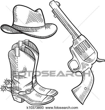 446x470 Drawings Of Cowboy Boots