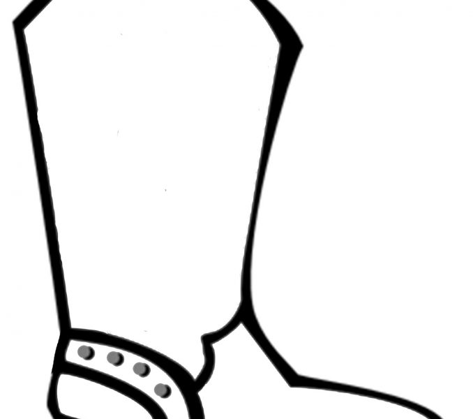 678x600 Drawings Of Cowboy Boots Free Download Clip Art