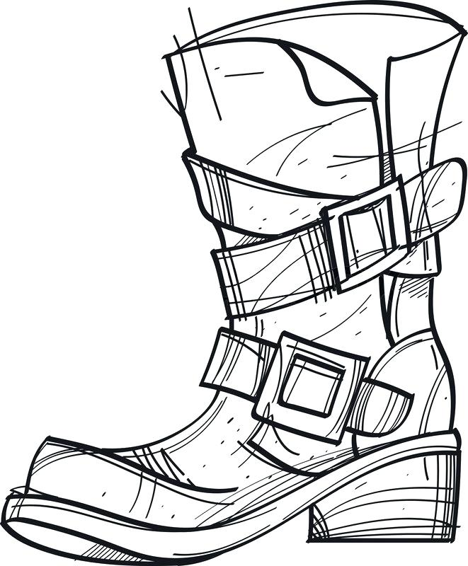 661x800 Boots Drawing Drawing Of Hoof Boots Drawing Template