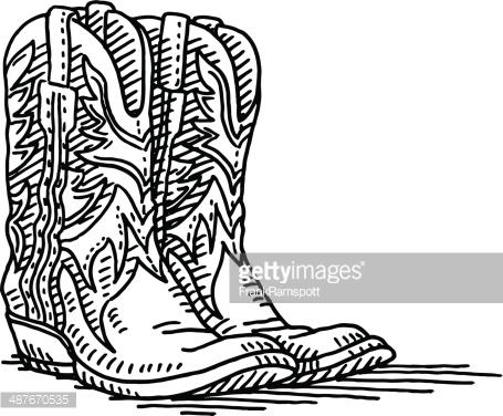 455x376 Pair Of Cowboy Boots Clipart Collection