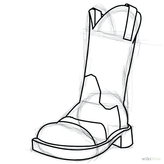 525x525 Drawing Of Boots