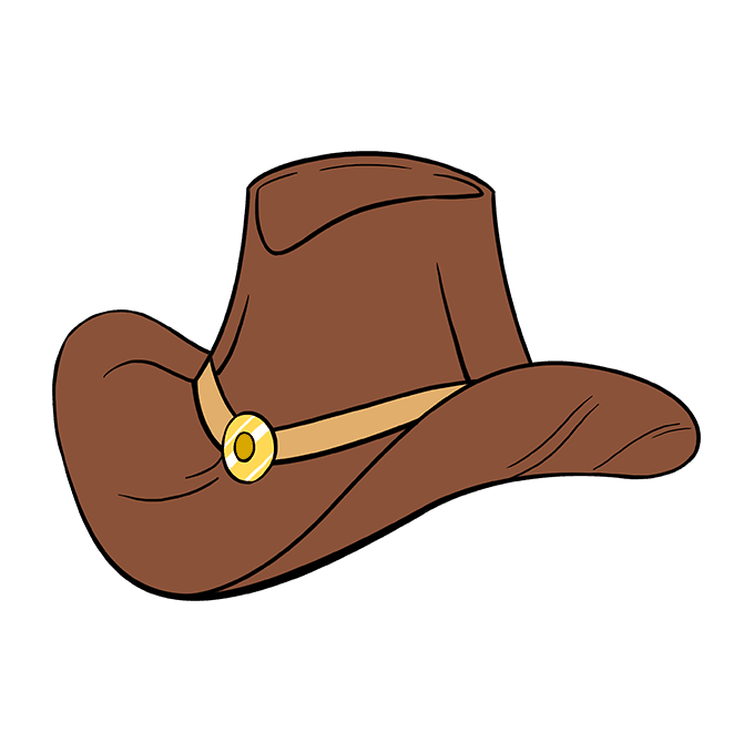 680x678 How To Draw A Cowboy Hat