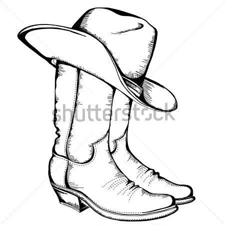 450x450 Huge Collection Of 'cowgirl Boots Drawing' Download More Than