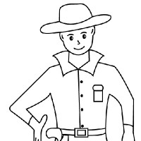200x200 Paint Bar Simple Sketches In Easy Cowboy Drawings