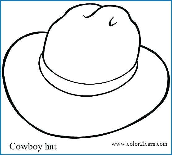 556x502 Cowboy Hat Coloring Pages