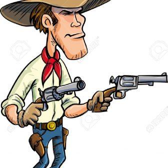 336x336 Cowboy Drawing Easy Line Art Boot Step Cartoon Network Bebop Gun
