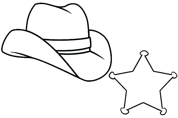 600x400 Images Of Cowboy Hat Coloring Page