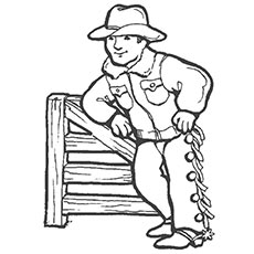 Black and White Sheriff Cowboy Hat Clip Art - Black and ... |Small Cowboy Hat Coloring Page
