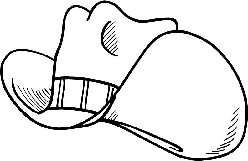 792x514 Cartoon Cowboy Hat Coloring Pages For Kids