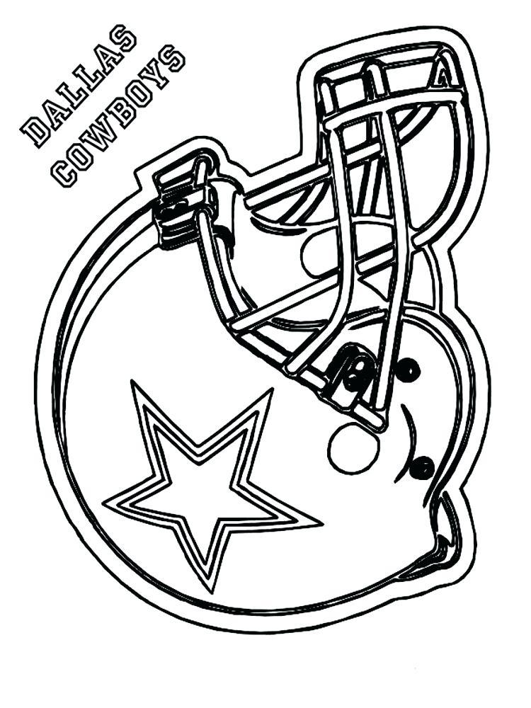 750x1000 Dallas Cowboy Coloring Football Pages Free