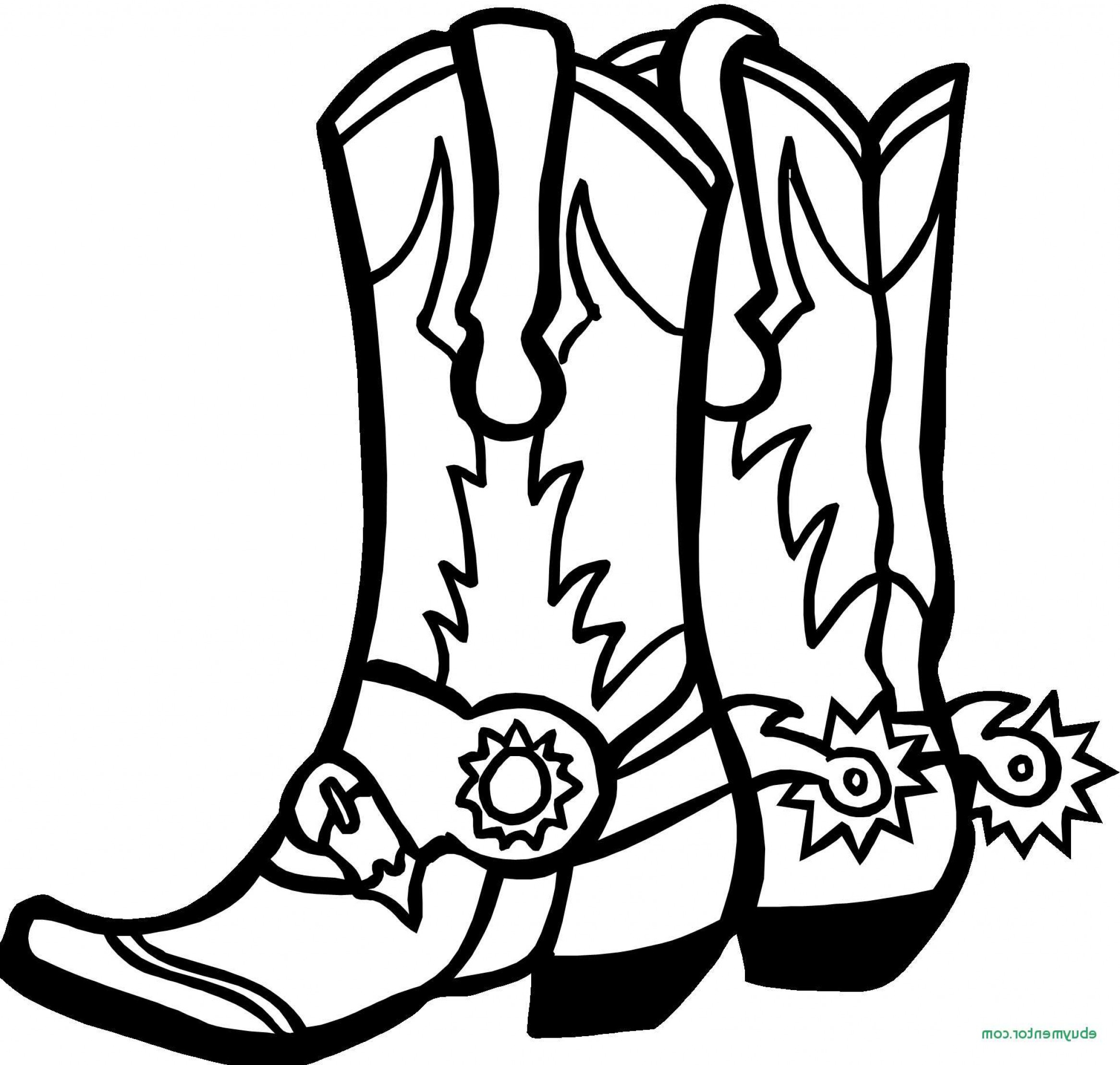 Cowgirl Boots Drawing