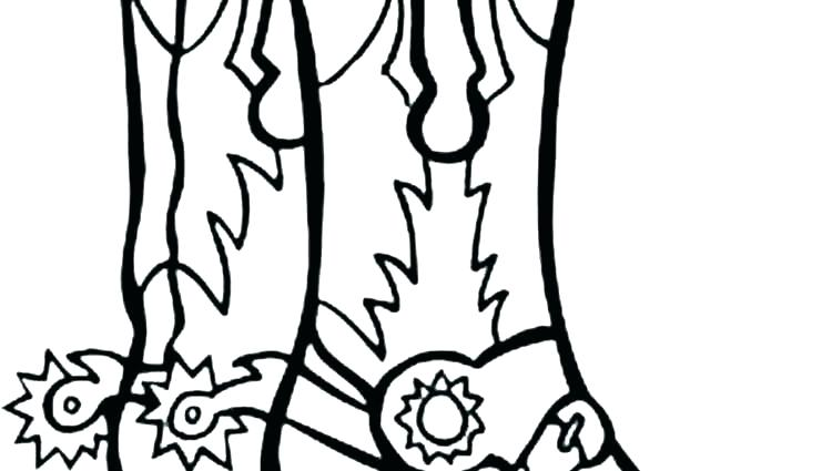 750x425 Cowboy Boots Coloring Pages Cowboy Boots Coloring Pages Boot