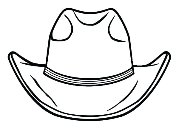 600x460 Cowboy Boots Coloring Pages To Print Cowboy Hat Printable Coloring
