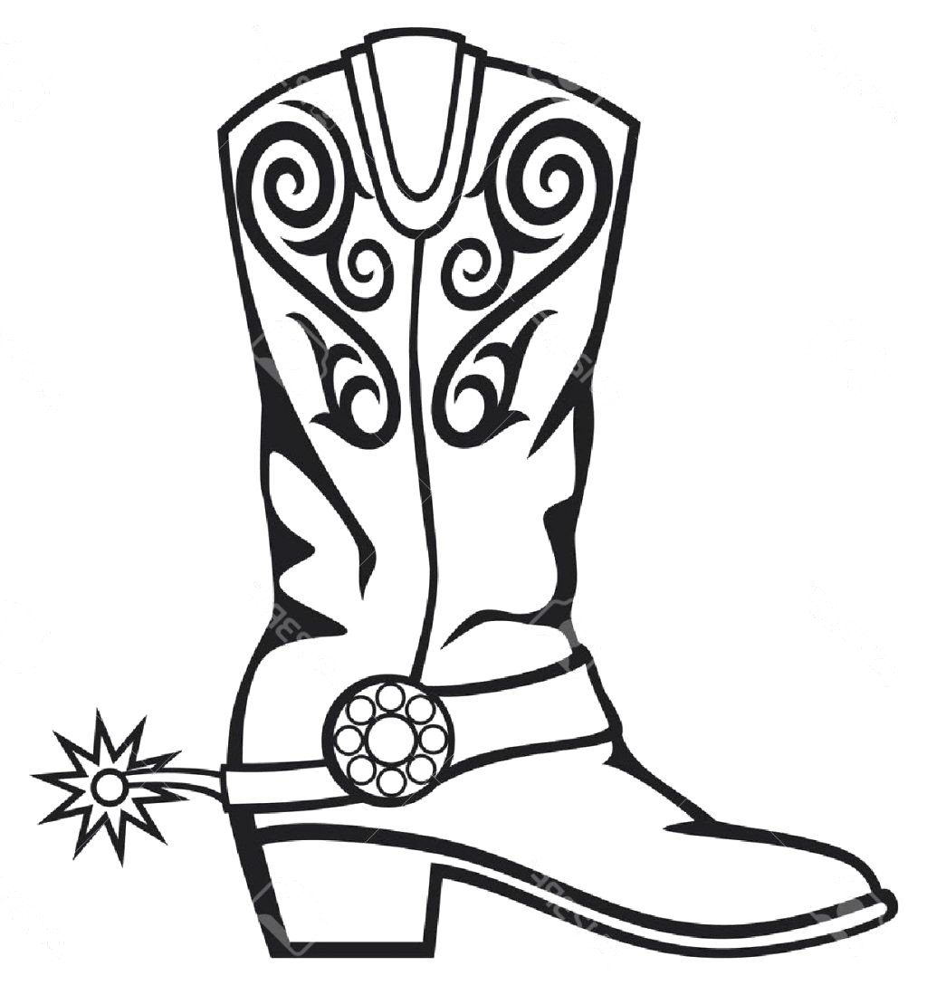 1024x1088 Cowboy Hat And Boots Clipart