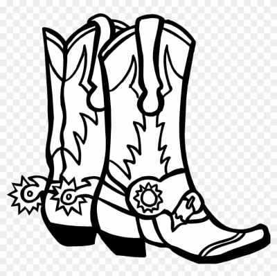 400x398 Download Free Png Trends For Cowboy Boots Drawing Drawing